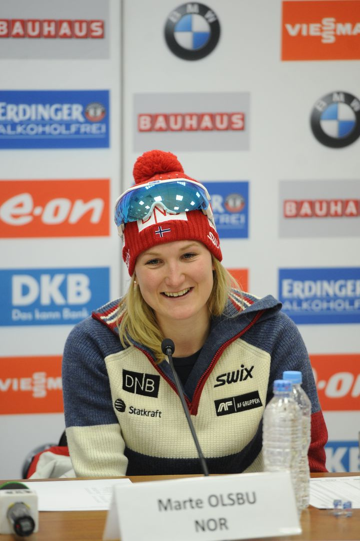 Норвежская биатлонистка Марта Олсбю