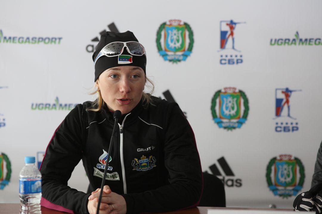 Российская биатлонистка Ольга Шестерикова