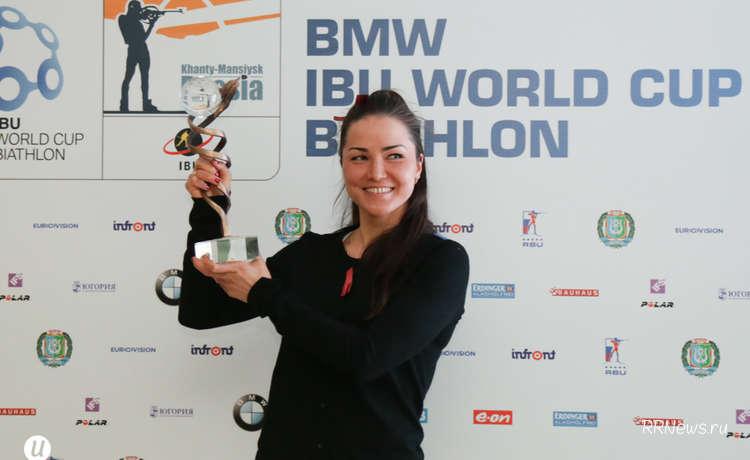 Биатлонистка Татьяна Акимова