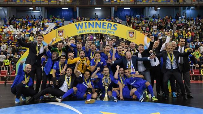 Мини-футбольный клуб Газпром-Югра обладатель кубка УЕФА 2015-2016