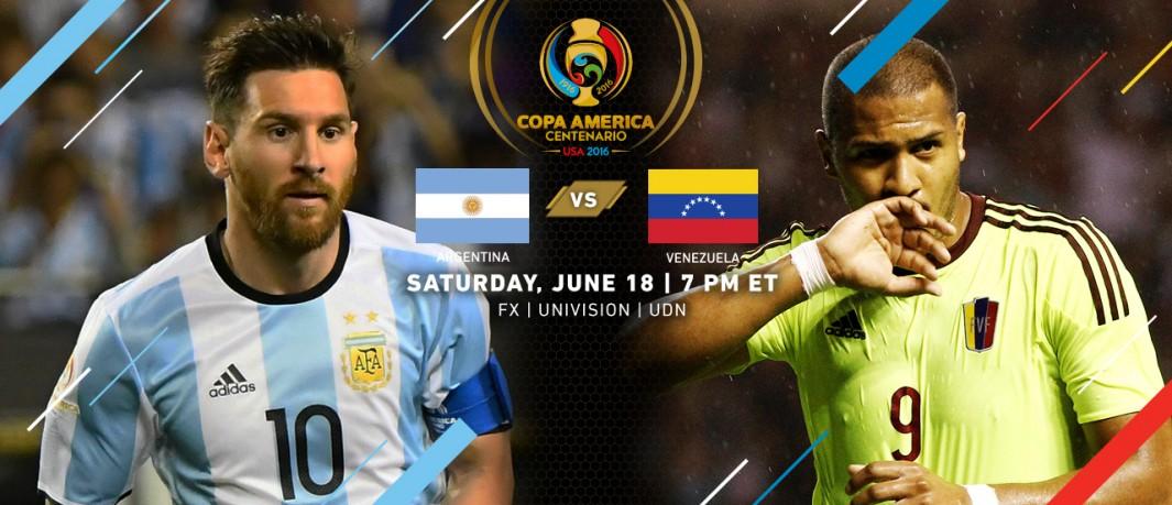 Аргентина - Венесуэла кубок Америки 2016 Месси