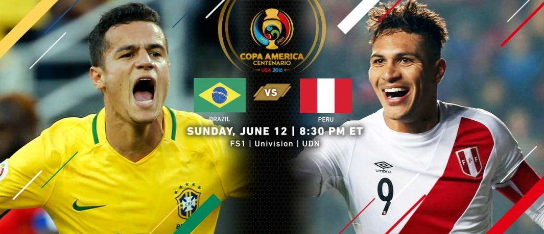 Сборная Бразилии - Сборная Перу