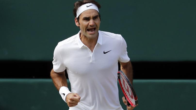 Швейцарец Роджер Федерер на Уимблдоне 2016