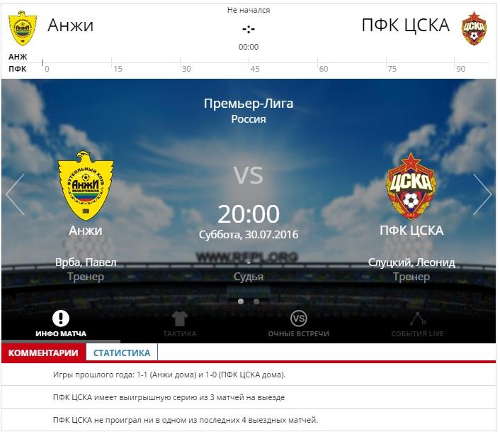 Матч Анжи-ЦСКА обещает стать результативным и зрелищным для болельщиков.