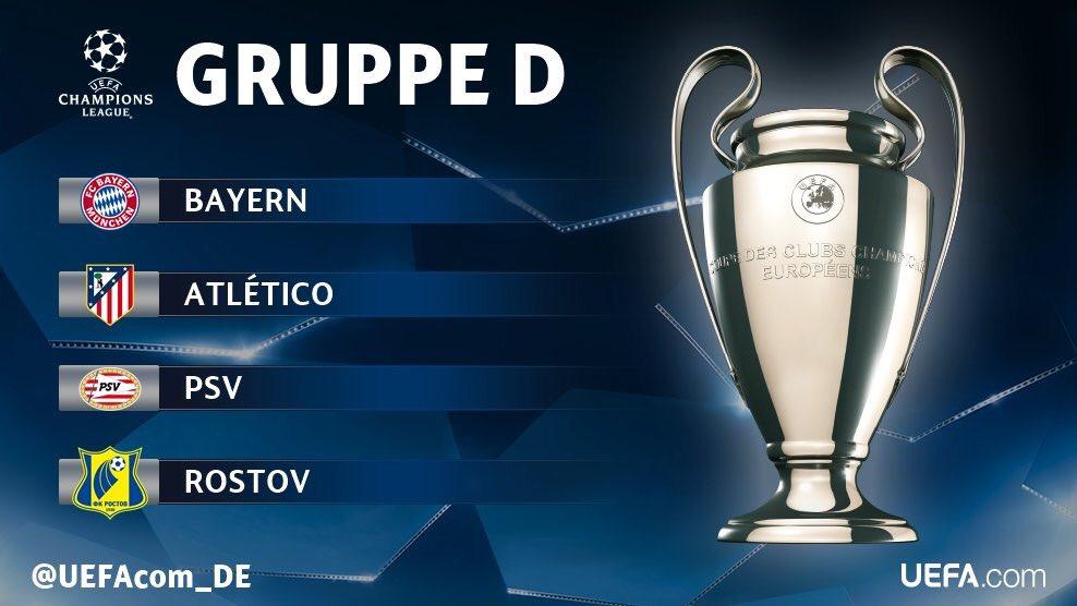Прогнозы на группа Д в Лиге Чемпионов 2016-2017