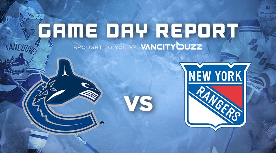 Нью-Йорк Рейнджерс - Ванкувер Кэнакс 9 ноября прогноз на матч НХЛ